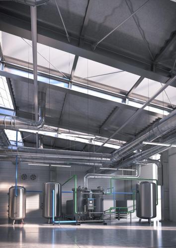 Nitrogen generator NGP 450 + installation